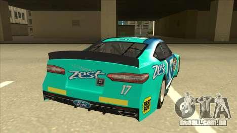 Ford Fusion NASCAR No. 17 Zest Nationwide para GTA San Andreas vista direita
