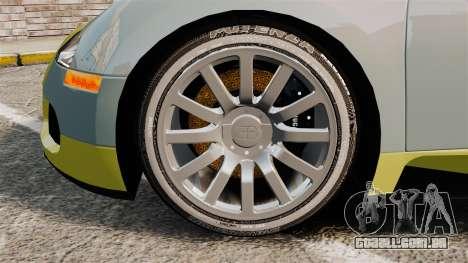 Bugatti Veyron Gold Centenaire 2009 para GTA 4 vista de volta