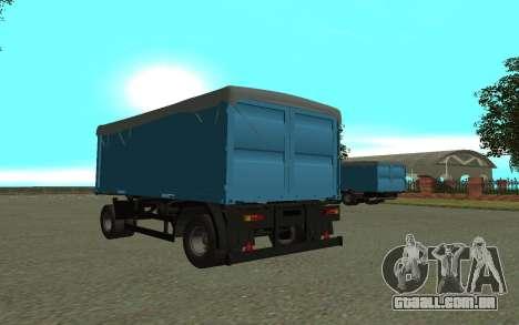 Trailer de KamAZa 5320 para GTA San Andreas