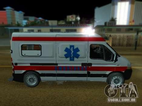 Renault Master ambulância sérvio para GTA San Andreas esquerda vista