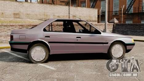 Peugeot 405 GLX para GTA 4 esquerda vista