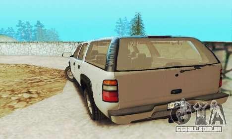 Chevrolet Suburban SAPD FBI para GTA San Andreas vista traseira