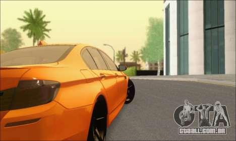 BMW M5 Vossen para GTA San Andreas vista direita