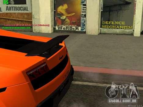 Lamborghini Gallardo LP560-4 SL UGR Altecho para GTA San Andreas traseira esquerda vista