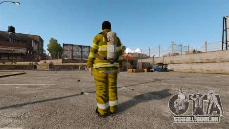 Uniformes amarelos para bombeiros para GTA 4 terceira tela