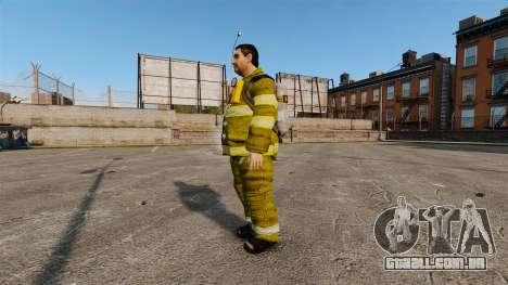 Uniformes amarelos para bombeiros para GTA 4 segundo screenshot