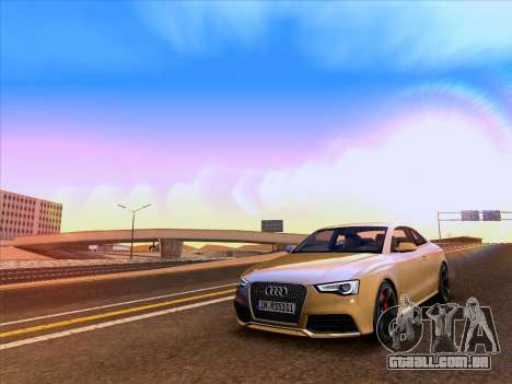 Audi RS5 2012 para vista lateral GTA San Andreas