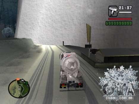Velocímetro novo para GTA San Andreas quinto tela