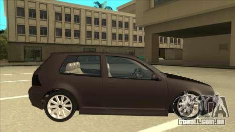 VW Golf 4 Tuned para GTA San Andreas traseira esquerda vista