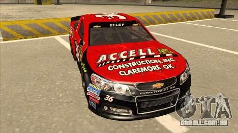 Chevrolet SS NASCAR No. 36 Accell para GTA San Andreas esquerda vista
