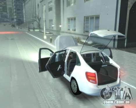 Lada Granta Hatch - VAZ 2191 para GTA 4 vista direita