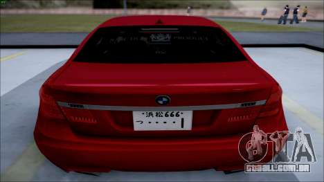 BMW 750 Li Vip Style para GTA San Andreas esquerda vista