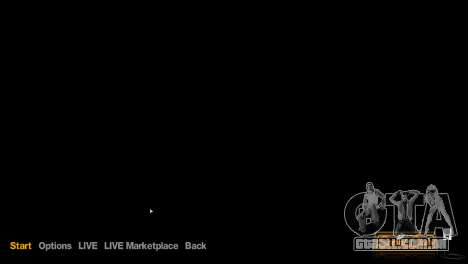 Imagens de menu e bota no estilo de GTA V para GTA 4 quinto tela