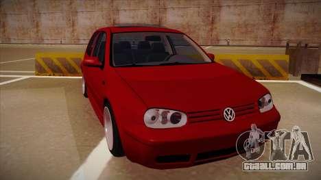 Volkswagen Golf Mk4 Euro para GTA San Andreas esquerda vista