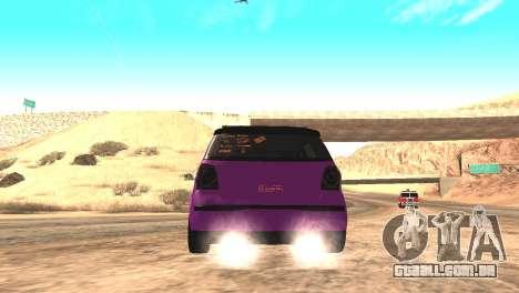 Volkswagen German Polo para GTA San Andreas traseira esquerda vista
