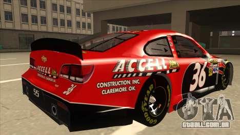 Chevrolet SS NASCAR No. 36 Accell para GTA San Andreas vista direita