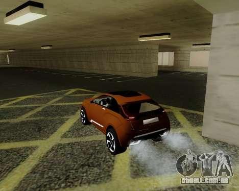 Lada X-RAY para GTA San Andreas traseira esquerda vista