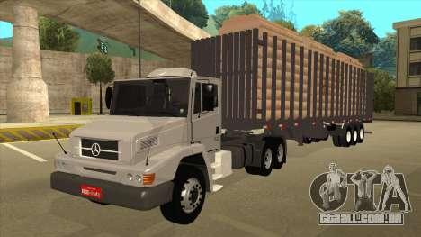 Semi-reboque para Mercedes-Benz LS 2638 para GTA San Andreas traseira esquerda vista