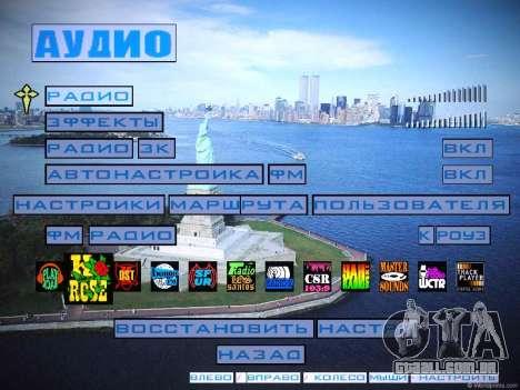 Novo menu e uma nova fonte para GTA San Andreas sexta tela
