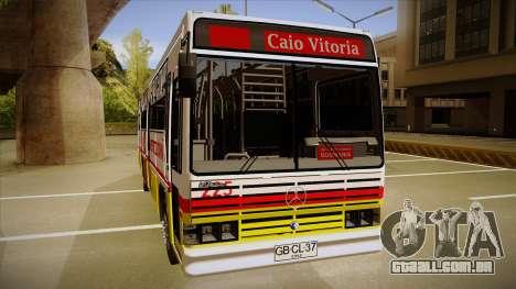 Caio Vitoria MB OF 1318 Metropolitana para GTA San Andreas traseira esquerda vista