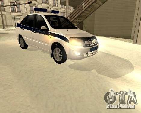 Lada Granta 2190 polícia v 2.0 para GTA San Andreas esquerda vista