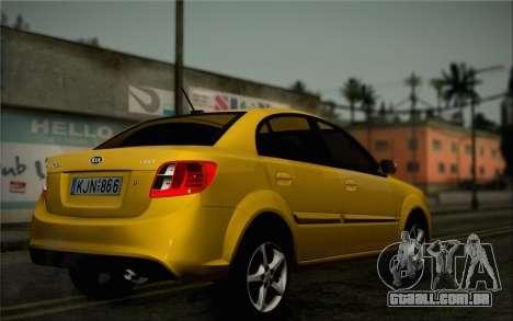 Kia Rio II 2009 para GTA San Andreas vista traseira