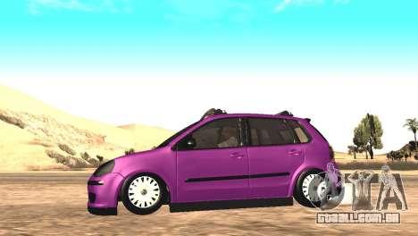 Volkswagen German Polo para GTA San Andreas vista direita