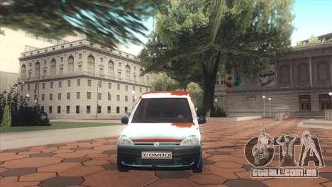 Opel Combo para GTA San Andreas vista direita