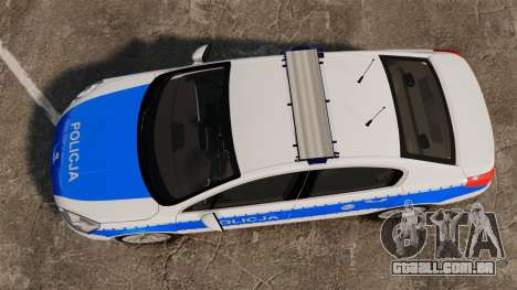 Peugeot 508 Polish Police [ELS] para GTA 4 vista direita