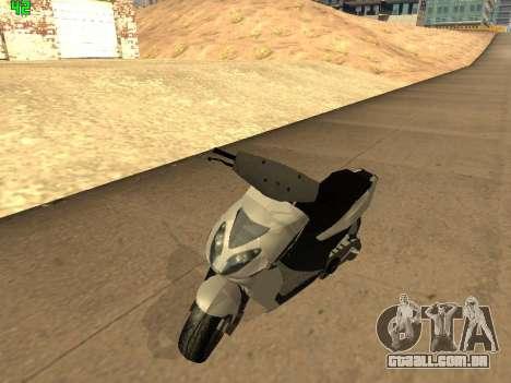 Piaggio NRG para GTA San Andreas esquerda vista