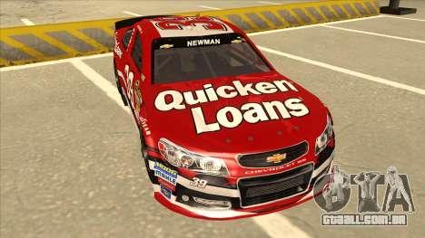 Chevrolet SS NASCAR No. 39 Quicken Loans para GTA San Andreas esquerda vista