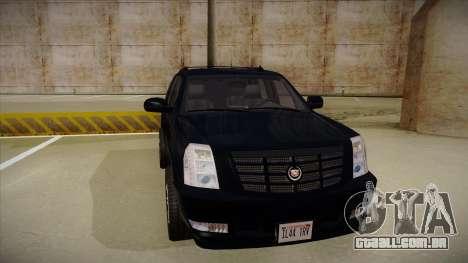 Cadillac Escalade 2011 Unmarked FBI para GTA San Andreas esquerda vista