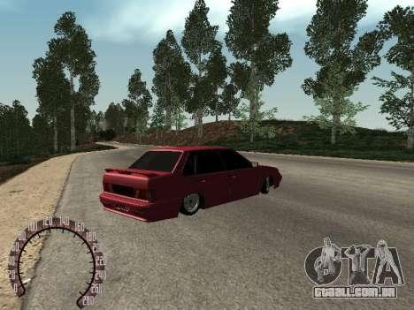 BPAN VAZ 2115 para GTA San Andreas traseira esquerda vista