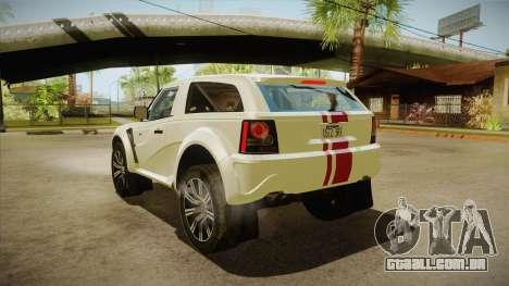 Bowler EXR S 2012 HQLM para GTA San Andreas traseira esquerda vista