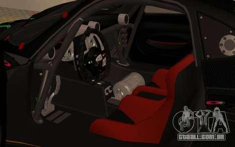 Pagani Zonda R SPS para GTA San Andreas vista traseira