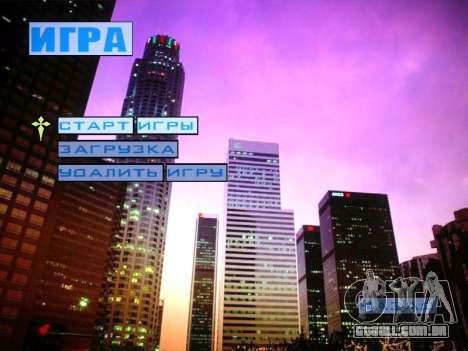 Novo menu e uma nova fonte para GTA San Andreas terceira tela