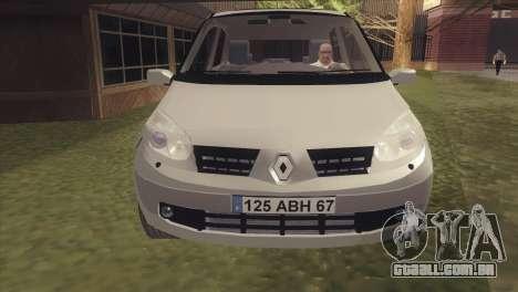 Renault Scenic 2 para GTA San Andreas traseira esquerda vista