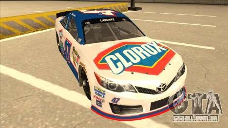 Toyota Camry NASCAR No. 47 Clorox para GTA San Andreas esquerda vista