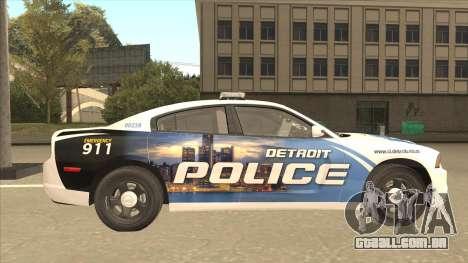 Dodge Charger Detroit Police 2013 para GTA San Andreas traseira esquerda vista