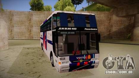Busscar Jum Buss 400 P Volvo para GTA San Andreas esquerda vista