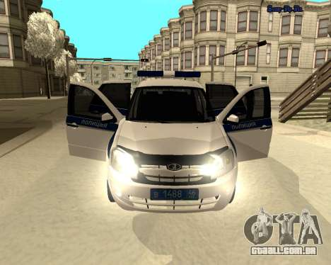 Lada Granta 2190 polícia v 2.0 para GTA San Andreas vista interior