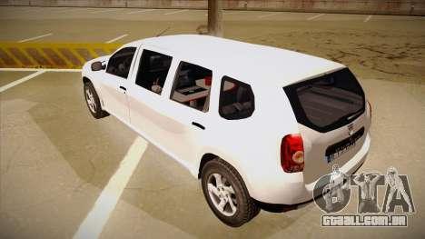 Dacia Duster Limuzina para GTA San Andreas vista traseira