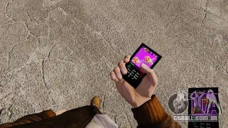 Temas para as marcas de fast food de telefone para GTA 4 por diante tela