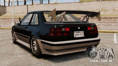 Futo atualizado para GTA 4 traseira esquerda vista