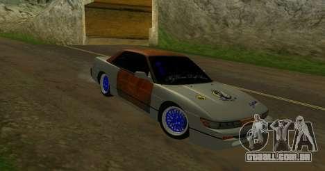 Nissan Silvia S13 MGDT para GTA San Andreas traseira esquerda vista