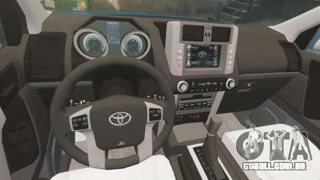 Toyota Land Cruiser Prado 150 para GTA 4 vista lateral