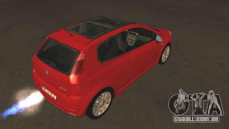 Fiat Grande Punto para GTA San Andreas vista traseira