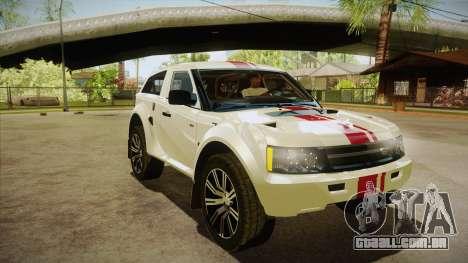 Bowler EXR S 2012 HQLM para GTA San Andreas vista traseira