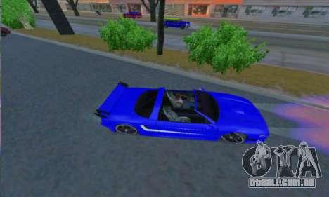 Infernus para GTA San Andreas esquerda vista