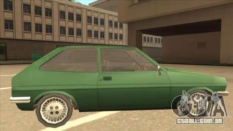 Ford Fiesta para GTA San Andreas traseira esquerda vista